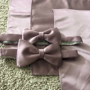 Sorella Vita Dusty Rose 2 Bow ties 3 Pocket square
